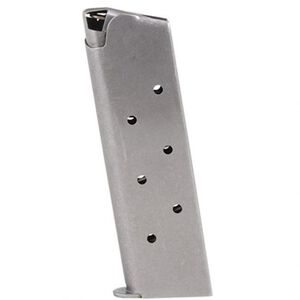 Metalform 1911 Government/Commander Full Size Magazine .38 Super 9 Rounds Stainless Steel Construction Natural Finish