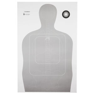 """Action Target TQ-15 Qualification Target with Vital Anatomy 24""""x35"""" Paper Target Gray 100 Pack"""
