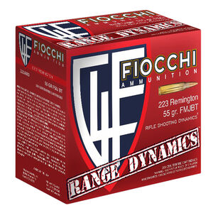 Fiocchi Shooting Dynamics .223 Remington Ammunition 55 Grain FMJBT 3240 fps