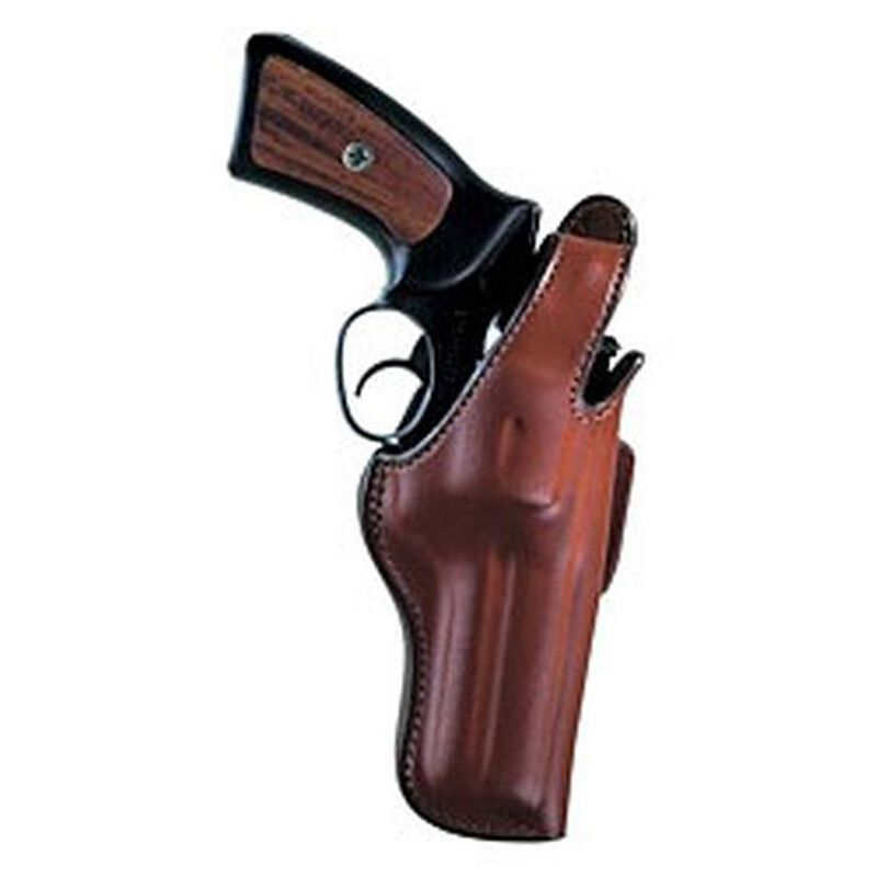 """Bianchi Thumbsnap Hip Holster Medium- & Large-Frame Revolvers 4"""" Barrels Size 6 Right Hand Leather Tan"""