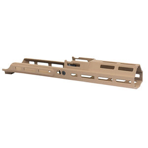 "Kinetic Development Group MREX MKII FN SCAR 6.5"" M-LOK Free Float Extended Hand Guard Rail System Magpul Flat Dark Earth"