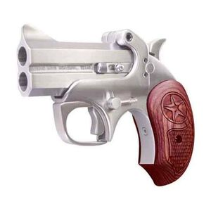 "Bond Arms Texas Defender Derringer .45 ACP 3"" Stainless Steel Barrels Fixed Sights Rosewood Grip BATD45ACP"