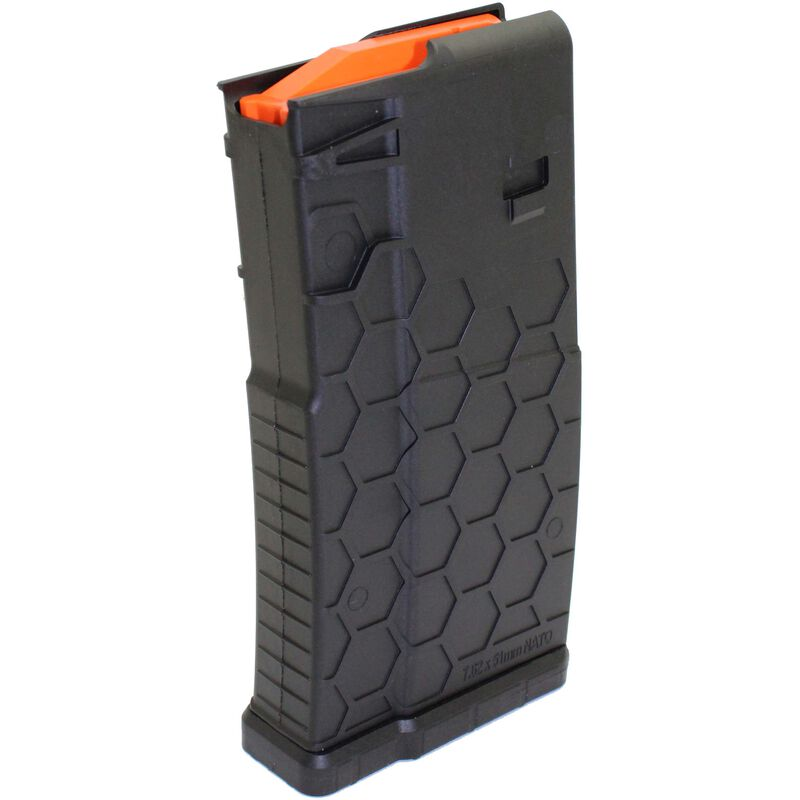 Hexmag AR-10A/LR-308/SR-25 Pattern Magazine .308 Winchester 20 Rounds Polymer Black HX20SR25S1BLK
