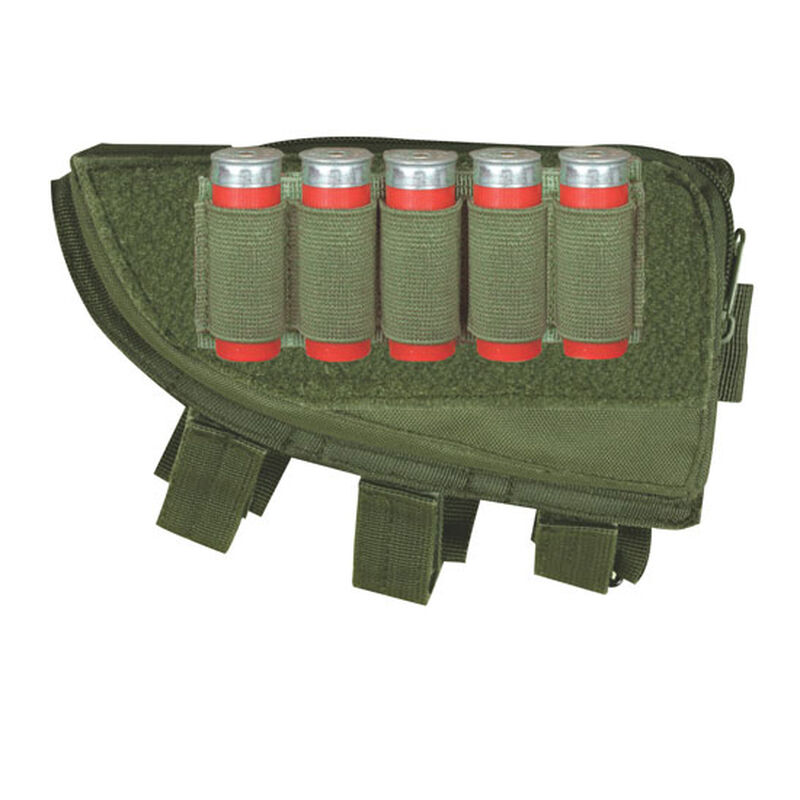 Fox Outdoor Shotgun Butt Stock Cheek Rest Left Hand OD Green 55-570