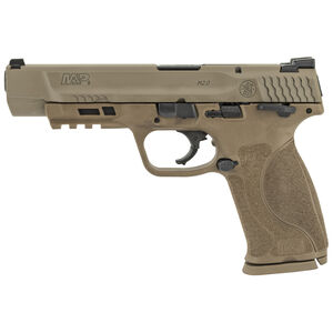 """S&W M&P9 M2.0 Semi Auto Handgun 9mm Luger 5"""" Barrel 17 Rounds Thumb Safety Loaded Chamber Indicator Frame Flat Dark Earth"""