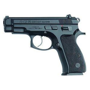"CZ 75 Compact Semi Auto Handgun 9mm Luger 3.75"" Barrel 14 Rounds Black Grips Polycoat 91190"