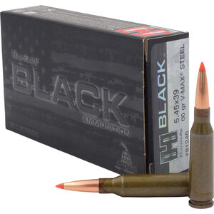 Hornady BLACK 5.45x39 Ammunition 20 Rounds V-Max 60 Grains Steel Case 81246