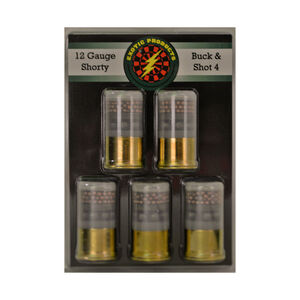 "Exotic Shorty 12 Gauge Mini Ammunition 5 Rounds 1.75"" #4 Buck/#7.5 Bird Shot 00512"