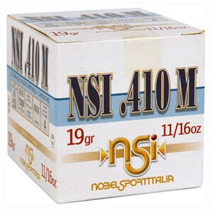 "NobelSport Hunting .410 Bore Ammunition 25 Rounds 3"" #7.5 Lead 0.6875 Ounce ANS41375"