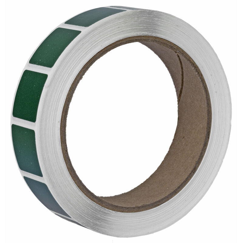 "Action Target Roll of 1000 7/8"" Square Target Paster Green"