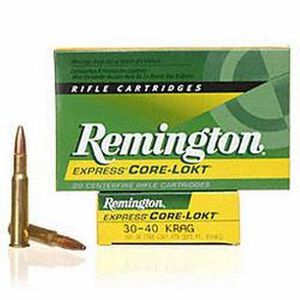 Remington Core-Lokt .30-40 Krag Ammunition 20 Rounds PSP 180 Grains R30402
