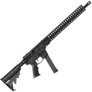 "CMMG Resolute 100 MkGs 9mm Luger AR-15 Semi Auto Rifle 16"" Barrel 33 Rounds Uses GLOCK Style Magazines RML15 M-LOK Handguard Collapsible Stock Black"