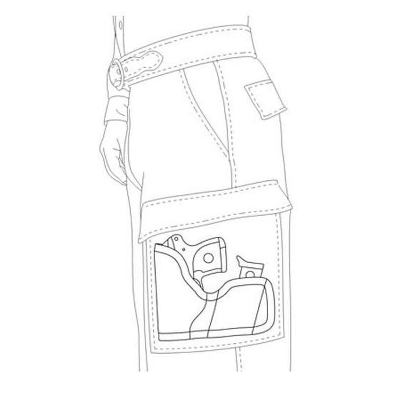 Desantis Ruger LCP, Keltec P3AT Nemesis Cargo Pocket Holster Black