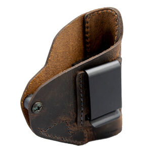 Versacarry Revolver Holster IWB fits Ruger LCR and Similar Right Hand Leather Distressed Brown