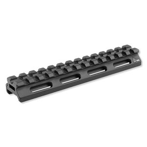 "Leapers UTG AR-15 SuperSlim Picatinny Riser Mount 0.5"" Height 5.5"" Long 13 Slots Aluminum Black MT-RSX5L"