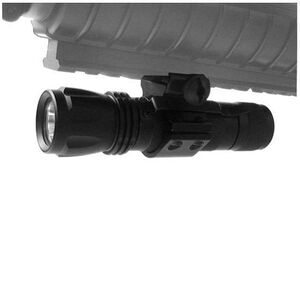 NcSTAR CREE LED Flashlight Handheld/Weapon Light 160 Lumen CREE LED x2 CR123A Battery Tail Cap Clip or Rail Mount Aluminum Black