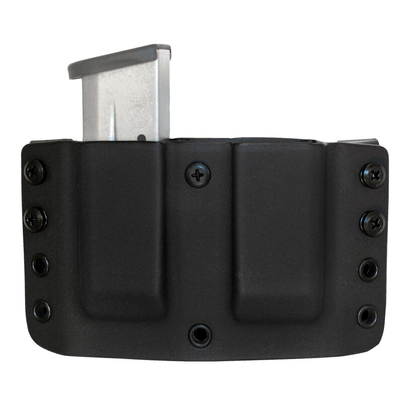 "Comp-Tac Twin Warrior Magazine Pouch IWB/OWB Belt Slide S&W M&P Shield 9mm/40 1.5"" Belt Size 19 Ambidextrous Kydex FDE"