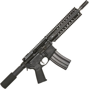 "Bushmaster XM-15 Enhanced Patrolman's AR Semi Auto Pistol 5.56 NATO 10.5"" Barrel 30 Rounds Quad Rail Black"