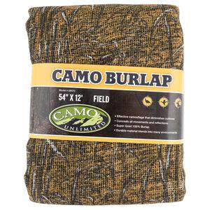 "Camo Unlimited Camouflage Burlap 54""x12' Field Pattern"