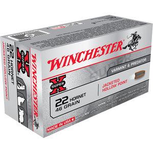 Winchester Super-X Varmint & Predator .22 Hornet Ammunition 50 Rounds 46 Grain JHP 2690fps