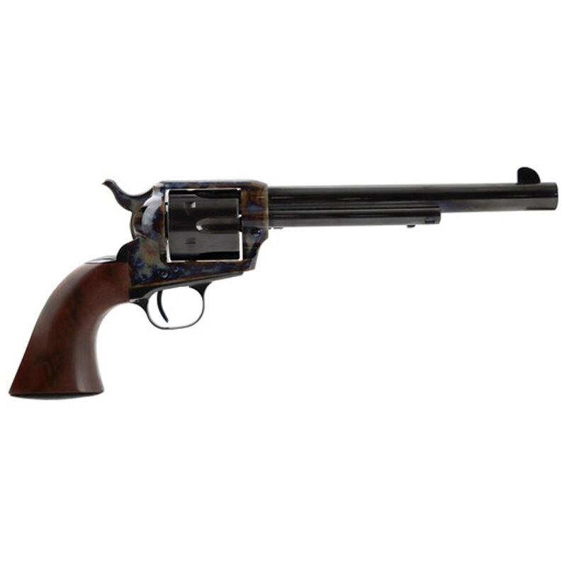 "Standard Manufacturing .45 Long Colt Single Action Revolver 7.5"" Barrel 6 Rounds Fixed Sights One Piece Grip Color Case Hardened Frame Blued Finish"