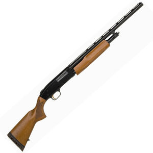 "Mossberg 505 Youth 20 Gauge Pump Action Shotgun 20"" Barrel 3"" Chamber 4 Rounds Twin Bead Sights Wood Stock Blued"