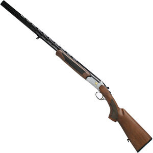 "Iver Johnson 600 O/U Break Action Shotgun .410 Bore 28"" Barrel 3"" Chamber 2 Rounds Engraved Silver Receiver Walnut Stock Black Finish"