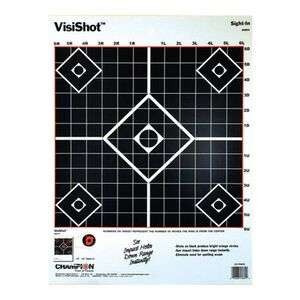 """Champion VisiShot Sight In Target 13""""x18"""" Ten Pack 45804"""