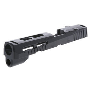 Rival Arms Optic Ready Slide for SIG Sauer P320 Full Size Frames Docter Optic Cut CNC Machined 416 Stainless Steel Billet QPQ Black Finish