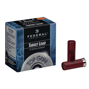 "Federal Top Gun 12 Gauge Ammunition 25 Rounds 2.75"" #7.5 Lead 1.125 Ounce TG1275"