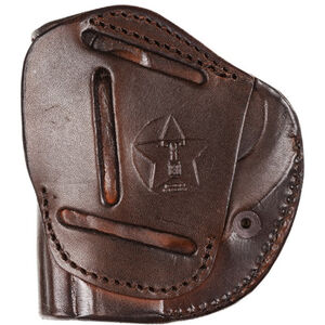 Tagua Gunleather 4 Victory Inside the Waistband Holster S&W M&P Shield 9/40 Models Right Hand Draw Premium High Quality Leather Brown Finish