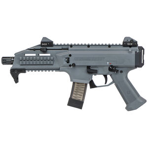 "CZ Scorpion EVO 3 S1 Pistol Semi Auto Pistol 9mm Luger 7.72"" Barrel 10 Rounds Low Profile Fully Adjustable Aperture/Post Fiber-Reinforced Polymer Frame Battleship Grey"