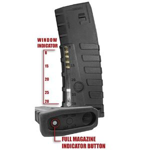 Command Arms Accessories AR-15 Clear Action Magazine .223 Rem/5.56 NATO 30 Rounds Polymer with Clear Window MAG17