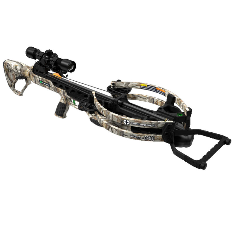 Centerpoint CP400 Crossbow Kit with 3x32 Scope Adjustable Stock Camo
