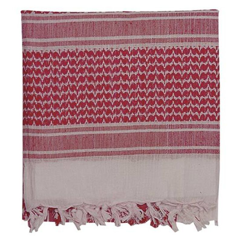 """Voodoo Tactical Shemagh Cotton 42""""x42"""" Red/White 08-306524160"""