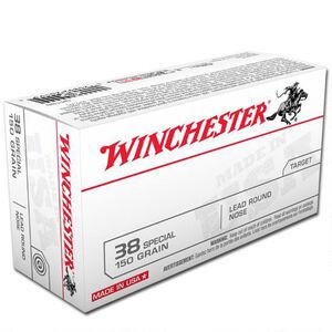 Winchester USA .38 Special Ammunition 50 Rounds, LRN, 150 Grains
