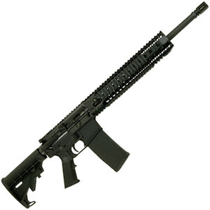 "Spikes Tactical ST-15 M4 LE Mid-Length 5.56mm NATO AR-15 Semi Auto Rifle 16"" Barrel 12"" BAR Quad Rail Handguard ST M4 Stock Black"