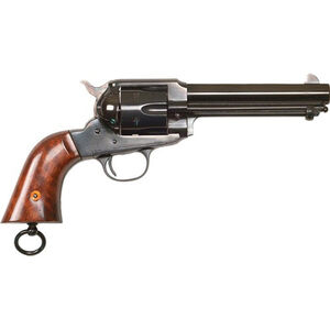"Cimarron Firearms 1890 Remington Police .45 LC Revolver 6 Rounds 5.5"" Barrel Walnut Grips with Lanyard Loop Blued Finish"
