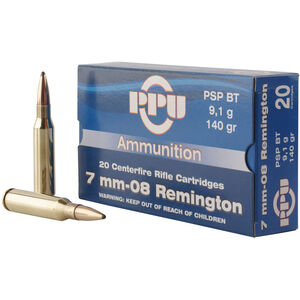 Prvi Partizan PPU Metric 7mm-08 Rem Ammunition 20 Rounds 140 Grain PSP BT 2860fps