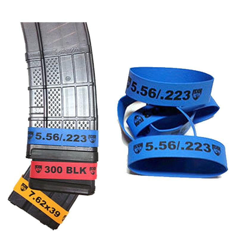 Faxon Magazine Marker Bands .223 Rem/5.56 NATO 10 Pack Rubber Construction Blue