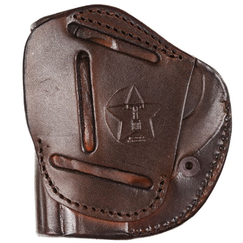 """Tagua Gunleather TX1836 4 Victory 1911 3"""" to 4"""" Barrel 4 Position Right Hand Leather Brown"""