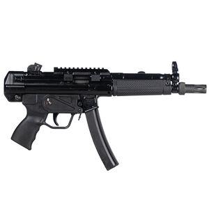 "Century Arms AP5 9mm Luger Semi Automatic Pistol 8.9"" Barrel 30 Rounds Roller-Lock Delayed Blowback Action Rear Drum Sight Matte Black"