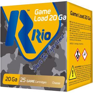 "RIO Ammunition Game Load 20 Gauge Ammunition 250 Rounds 2-3/4"" Shell #8 Lead Shot 1oz 1250fps"