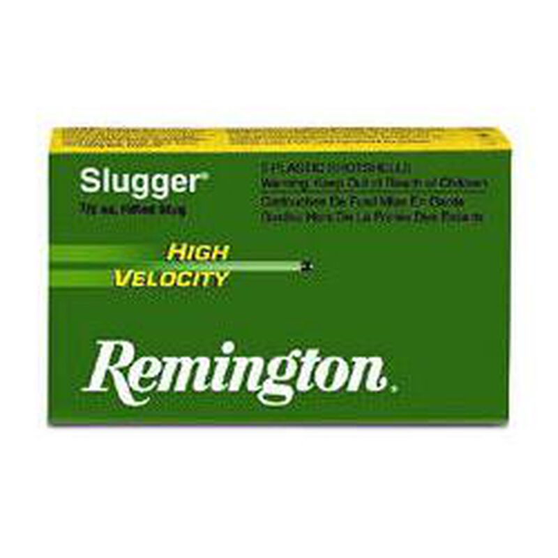 "Remington Arms, 12 Gauge Slugger Ammunition 5 Shells, 383 Grains, Rifled Slug, 3"""