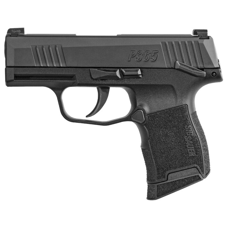 """SIG Sauer P365 Micro-Compact 9mm Luger Semi Auto Pistol 3.1"""" Barrel 10 Rounds X-Ray3 Sights Manual Safety Polymer Frame Matte Black Finish"""
