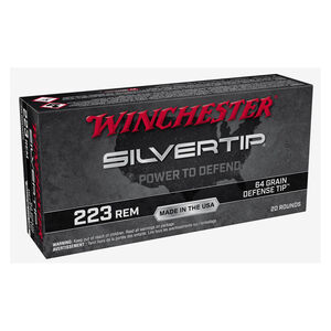 Winchester Silvertip .223 Rem Ammuntion 20 Rounds Defense Tip 64 Grain W223ST