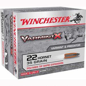 Winchester Varmint X .22 Hornet Ammunition 200 Rounds, PT, 35 Grains