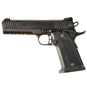 "Rock Island Armory Tac Series Ultra Full Size 1911 Semi Auto Pistol .45 ACP 5"" Barrel 14 Rounds Fiber Front/Adjustable Rear Sights G10 Grips Parkerized Matte Black"