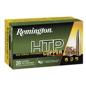 Remington HTP Copper .270 Winchester Ammunition 20 Rounds 130 Grain Barnes TSX Boat Tail