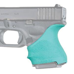 Hogue HandAll Beavertail Grip Sleeve Fits Glock 26/27 Aqua